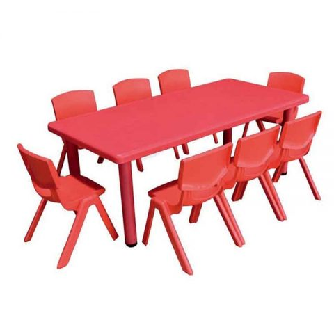 Rectangle Table Plastic red